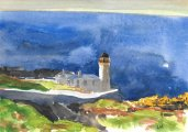 Isle of May, the Low Light, where we stay, 14.5x20.5cm