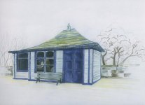 a station building at Nairn, 20x27cm