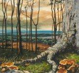 Clerkhill wood, 14x15cm