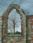 Elgin Cathedral, 15x14cm