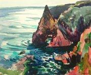 Buchan coast, 25x30cm