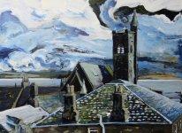 Burntisland rooftops, 46x63cm