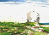 Isle of May, Scotland's oldest lighthouse, 15x21cm