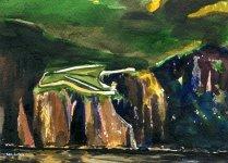 McArthur's Head, Islay, 12x17cm