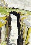Mill Door, Isle of May, 21x15cm