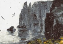 Pilgrims Haven, Isle of May, 8x11cm