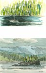 Port Hardy to Prince Rupert - journey to the islands, 5.5x10cm & 7.5x10cm