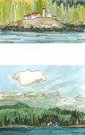 Port Hardy to Prince Rupert - lighthouse communities, 5x10cm & 8.5x10cm