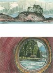 Port Hardy to Prince Rupert - through the porthole window, 4.5x10cm & 7x10cm