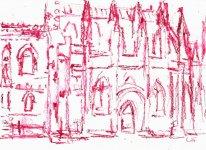 Rosslyn Chapel, 14x19cm