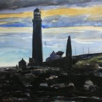 Scurdie Ness lighthouse, 25x25cm