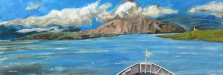 arriving in the Orkneys, 19x56cm
