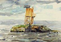 black guillemot, from the pier, 15x21cm