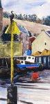 cormorant & Ferryden village, Montrose, 35x17cm