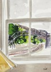 from the sitting room, Helmsdale station, 21x15cm