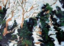 ivy trees, 18x25cm ish