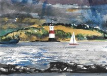 light on the Forth, 15x21cm