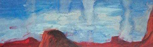 red mountains, 9x27cm