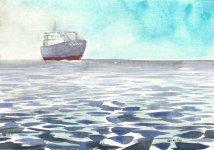 ship haze, 14x21cm