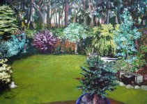 the garden, 50x70cm ish