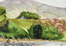 the lookout, Helmsdale, 15x21cm