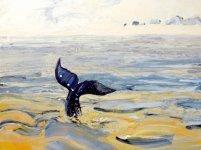 the whale, 50x70cm