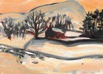 winter at Spittal of Glenshee, 15x21cm