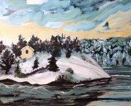 winter isle, 45x56cm