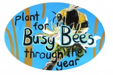 hand-painted signs for Burntisland Biodiversity Station Garden