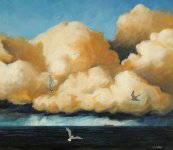drama of the sea, 60x70cm