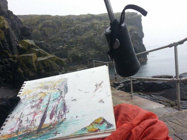 Altarstanes, Isle of May, 24x28cm
