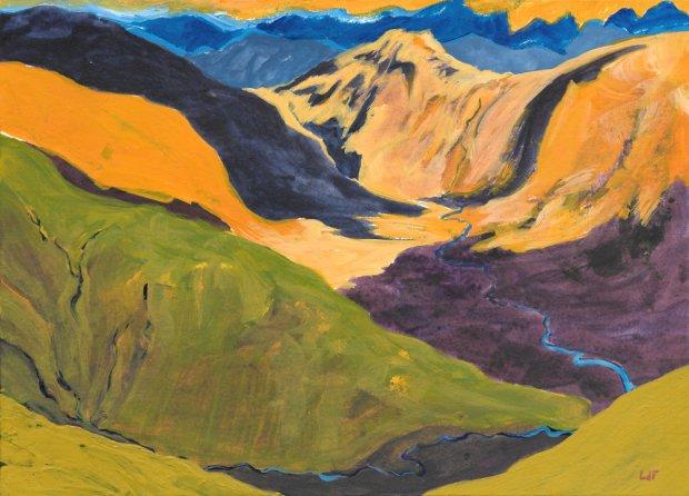 mountain rivers, 15x21cm